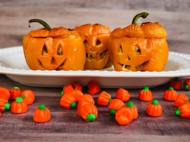 Whip It Up Wednesday: Jack-O-Lantern Stuffed Peppers