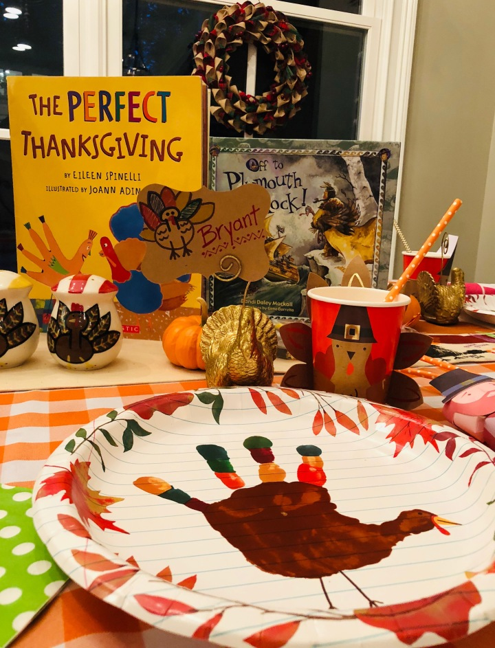 Kid's Thanksgiving Day Table