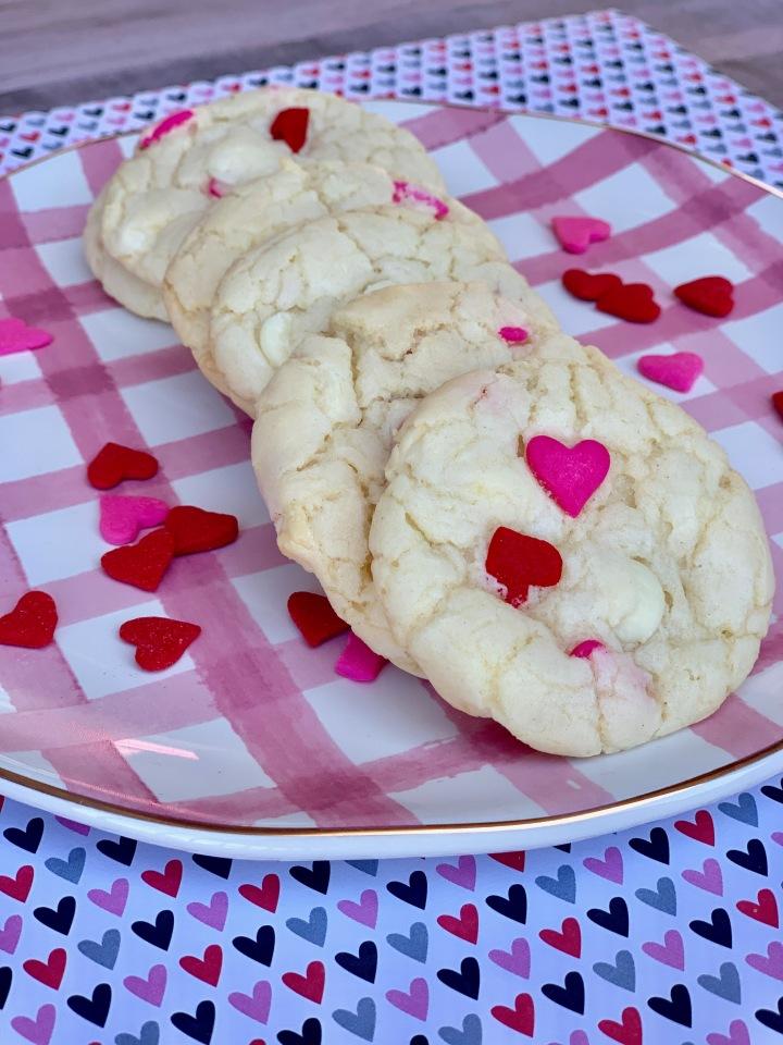 Valentine Cake BatterCookies