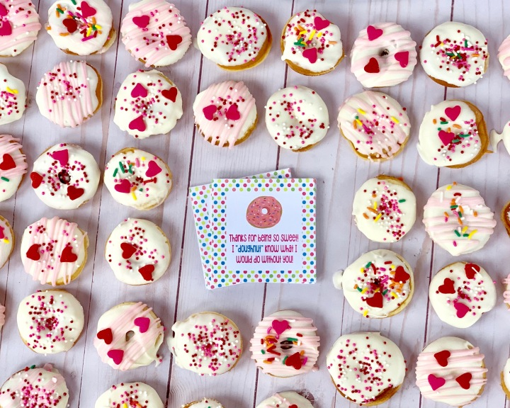 Valentine Doughnuts & Tags