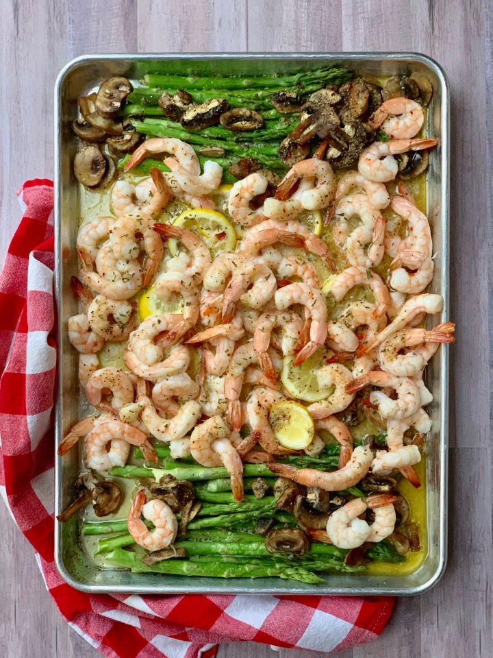 Whip It Up Wednesday:  Sheet Pan Shrimp Scampi
