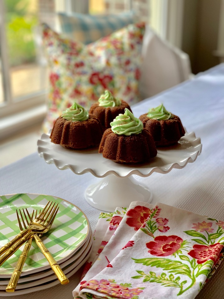 Whip It Up Wednesday:  Mint Chocolate Bundt Cakes