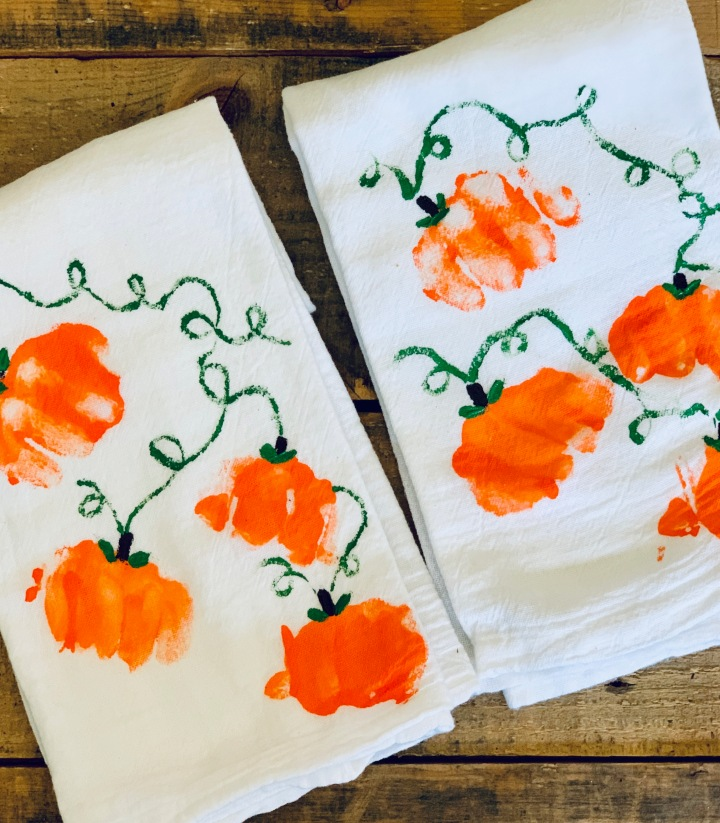 Grandparent's Day: Pumpkin Towel