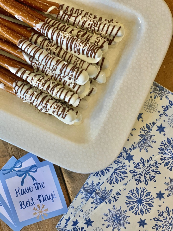 Pretzel Rods and Free Winter Tag